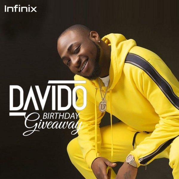 Infinix is giving Out 26 Smartphones in celebration of Davido's