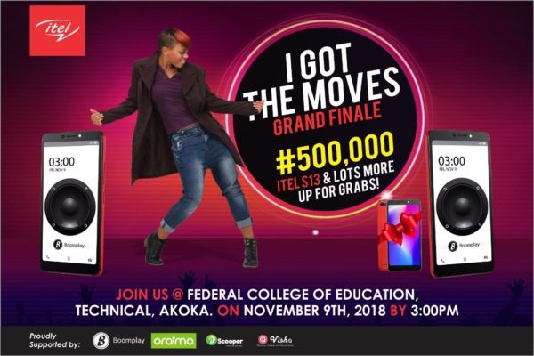 Win N500,000 in the itel Mobile #iGotTheMoves Dance Competition | Tomorrow, November 9th
