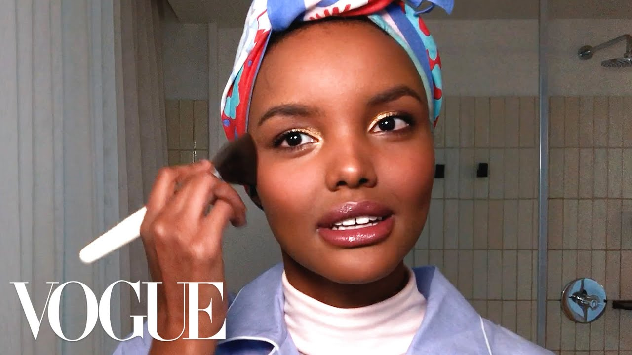 BN Beauty: Model Halima Aden shares her Beauty Secrets for Glowing Skin & Golden Eyes for a Party Look