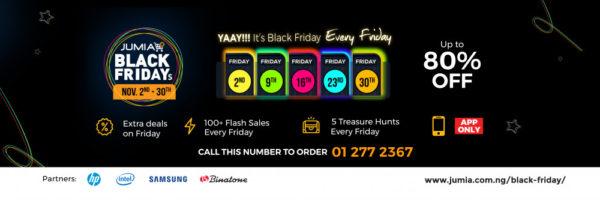 Jumia Black Fridays Campaign Banner
