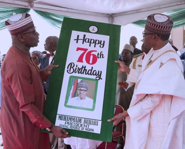 President Buhari's Aides surprise him on 76th Birthday