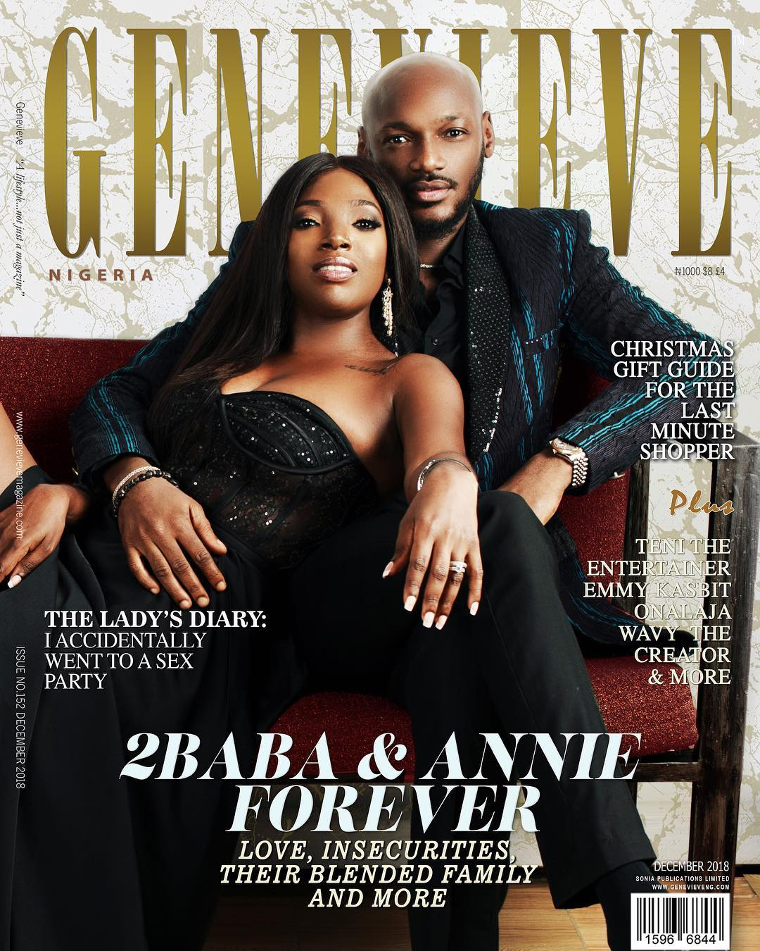 2Baba & Annie talk Love, Insecurities & their Blended Family in Genevieve Magazine's December Issue!