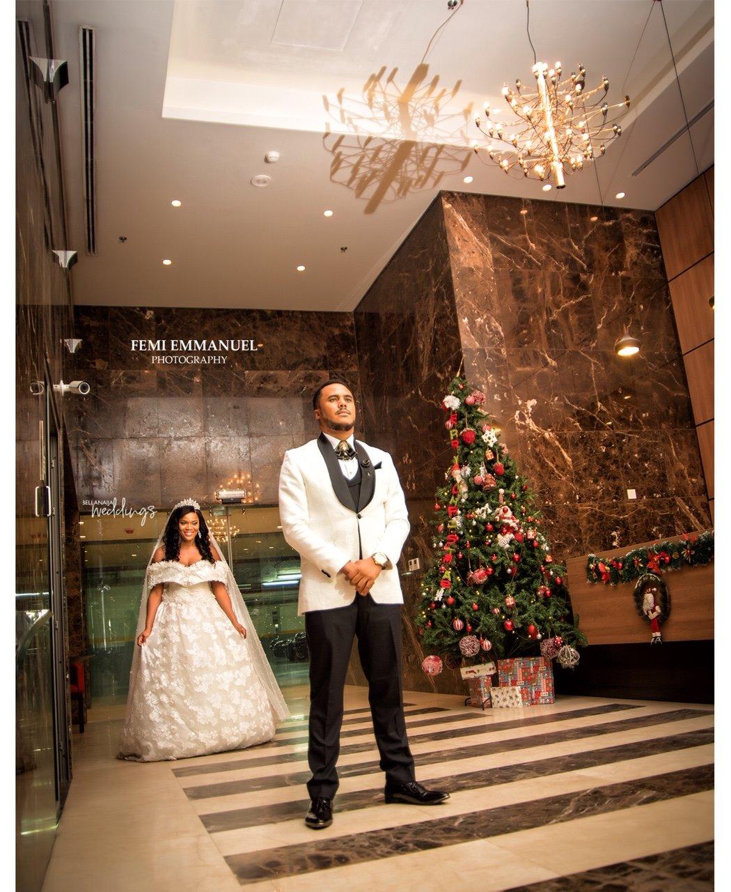 White Wedding On Youtube: First Look At Kosi Obialor & Michael Okon White Wedding