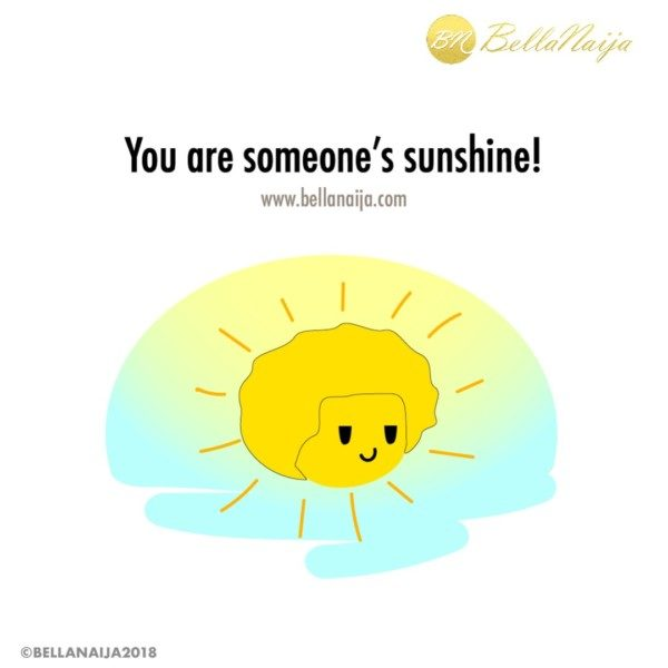 Lil' Bella says: You're someone's reason to rise in the morning