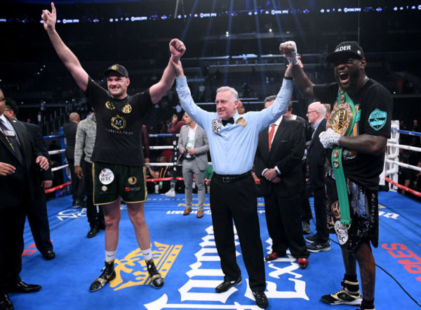 Deontay Wilder & Tyson Fury's fight ends in Controversial Draw | BellaNaija