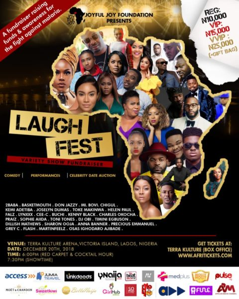 Joyful Joy Foundation hosts Laughfest to Raise Funds & Create awareness for the Fight against Malaria | December 20th