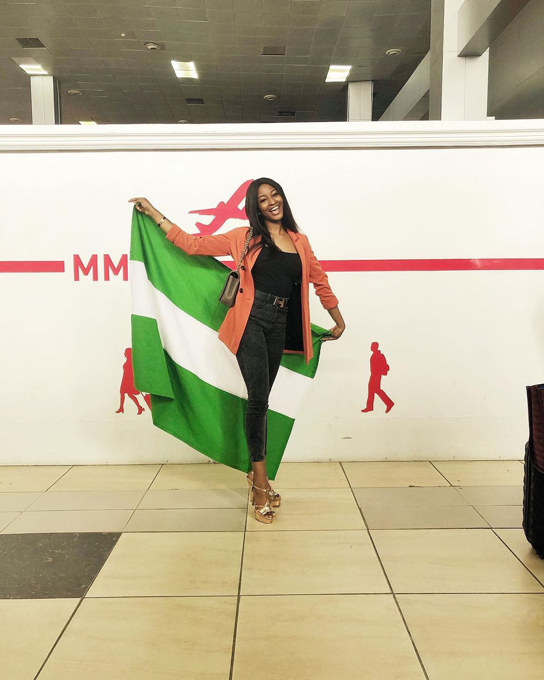 Nigeria's Rep Kim Oprah arrives Philippines for Miss InterContinental Beauty Pageant