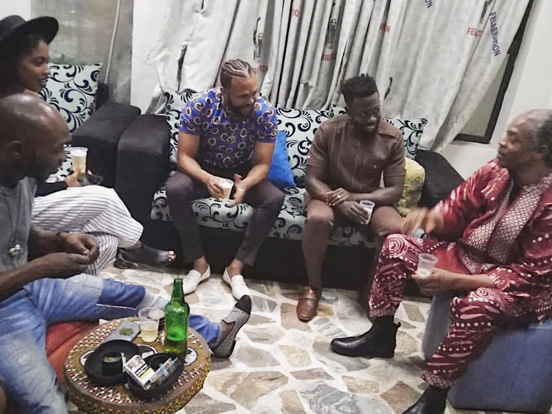 Jidenna visits Kuti Family at the New Afrika Shrine