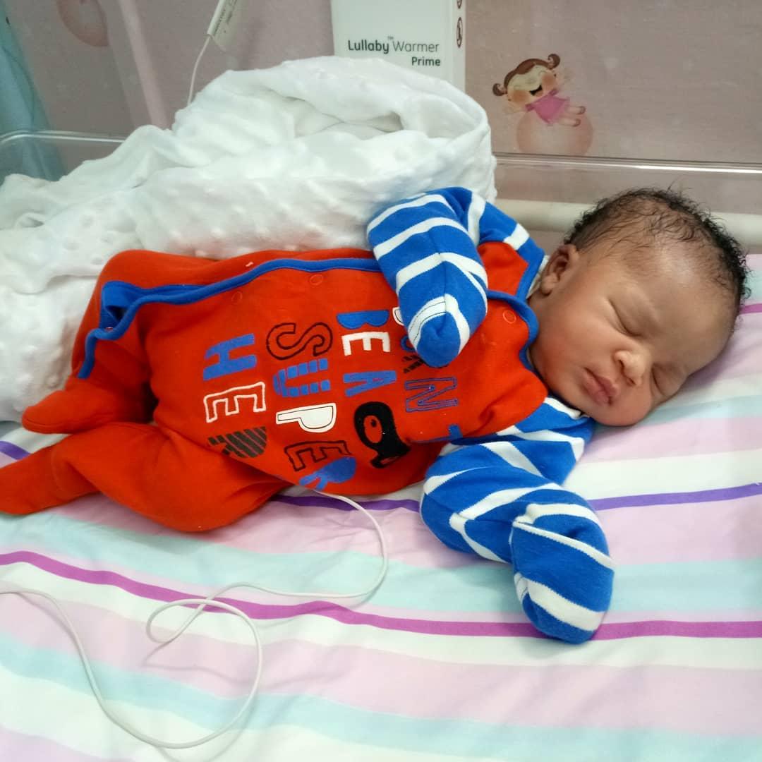 Kalu Ikeagwu & Wife Ijeoma welcome a Baby Boy