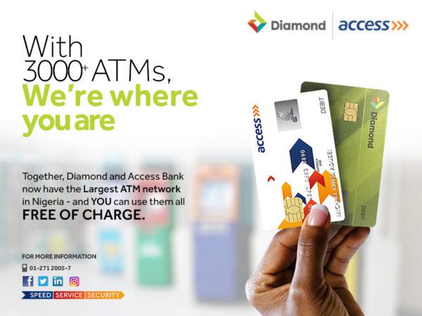 Access Bank & Diamond Bank ATM Network