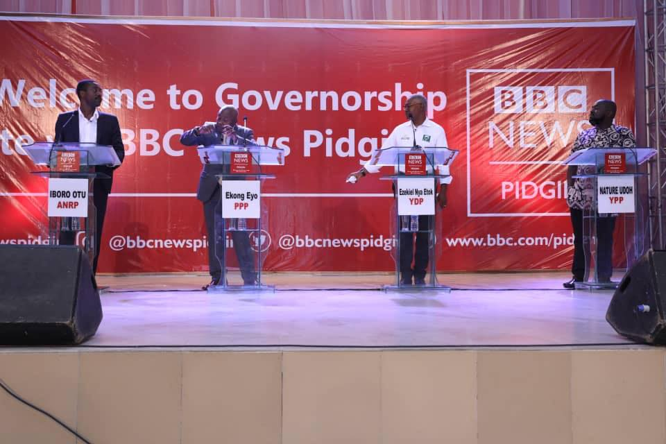 WATCH Akwa Ibom Guber Candidates Go Head-to-Head on #BBCGovDebate