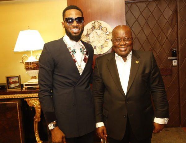 D'Banj meets with Ghanaian President Nana Akufo-Addo | BellaNaija