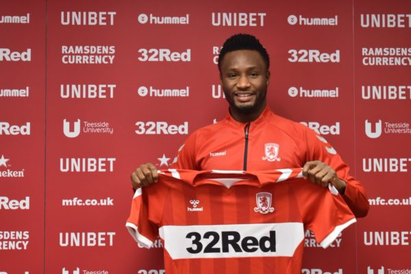 Mikel Obi joins English Club Middlesbrough | BellaNaija