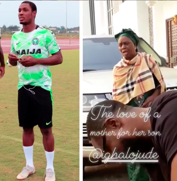 BN Sweet Spot: Odion Ighalo is still his Mum's Baby 😍