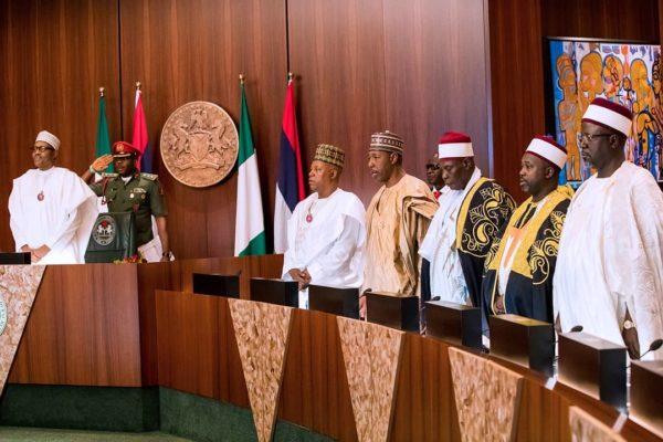 The Cable: Borno Governor Shettima weeps over Boko Haram as he visits Buhari | BellaNaija