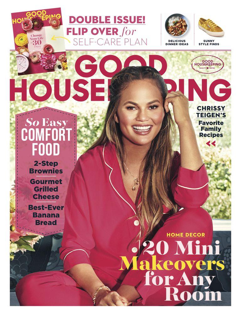 Chriss Teigen talks about her weight gain in Good Housekeeping magazine