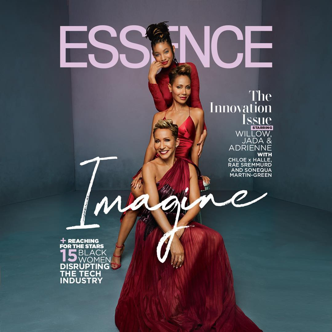 It's a Triple Dose of MultiGenerational Beauty with Willow Smith, Jada Pinkett Smith & Adrienne Norris on Essence Magazine's New Cover
