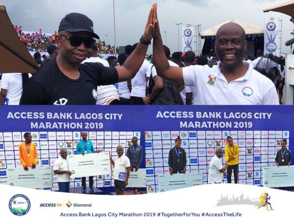Access Bank and Diamond Bank at Lagos City Marathon