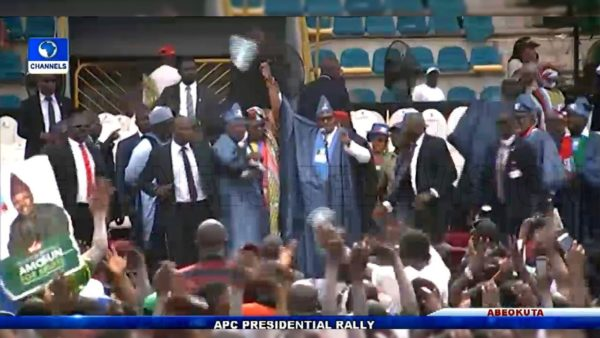 APC Rally In Ogun State: Booing And Stoning At APC Rally In Ogun State