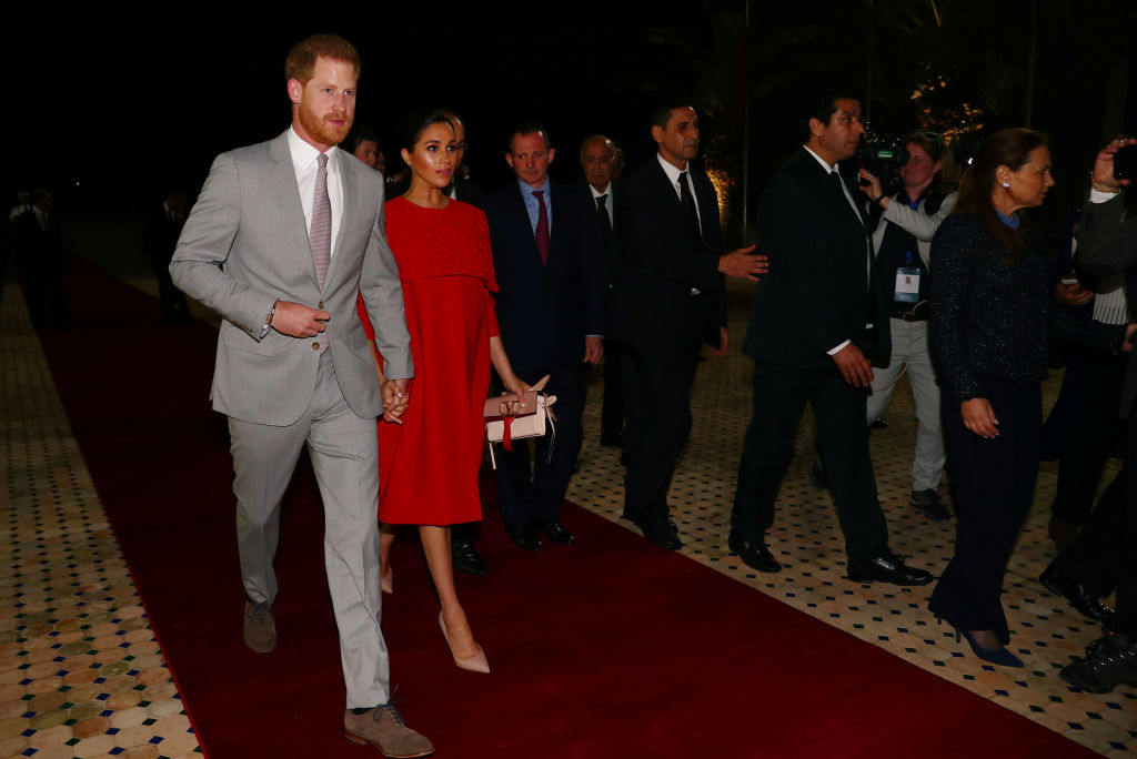 Meghan glows in pleated black dress during whirlwind Morocco tour