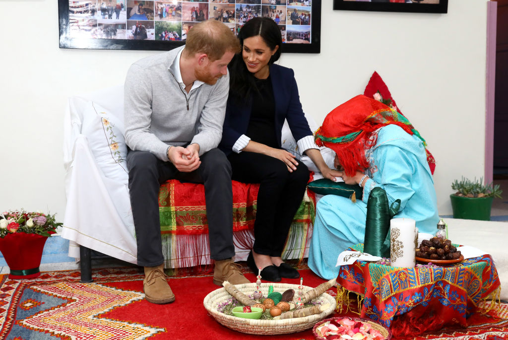 Prince Harry jokes about Meghan Markle's baby in Morocco