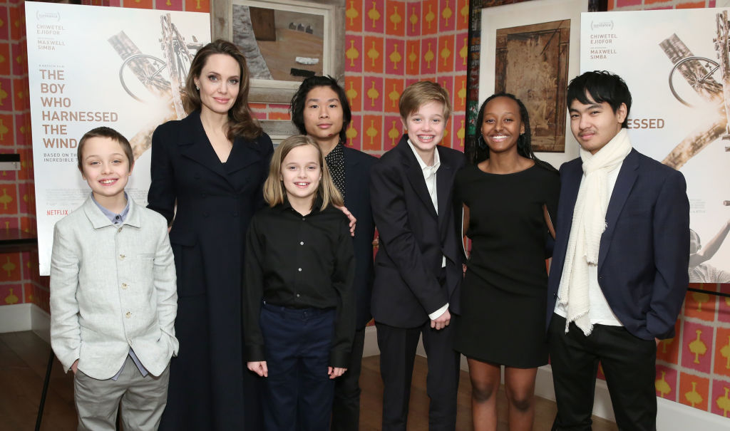 Angelina Jolie makes Rare Public Appearance with all 6 of her Children