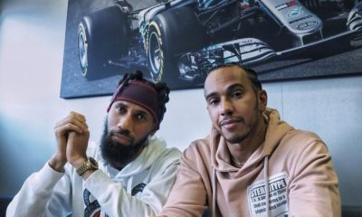 Phyno hangs out with Lewis Hamilton
