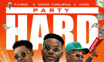 Flyboi ft. Ycee and Dapo Tuburna Party Hard cover art