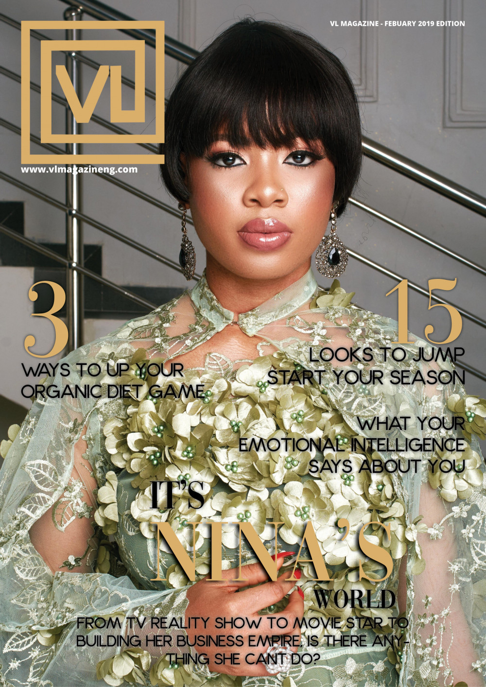 Image result for #BBNaija's Nina is the Cover Girl for VL Magazine's Latest Issue