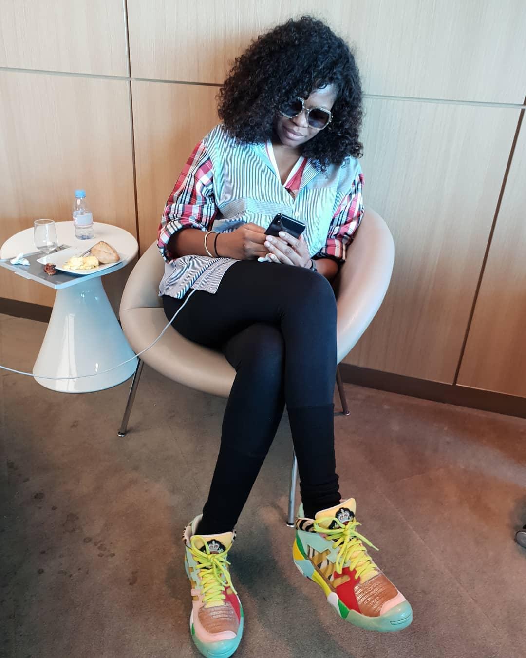 Here's Banky W, Kemi Adetiba and Tope Oshin #BNxAirFranceinHollywood Lagos to Los Angeles Experience