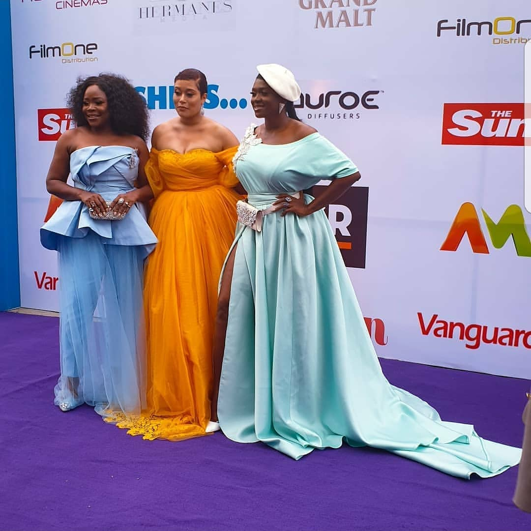First Photos: Waje, Omawumi, Somkele Idhalama, Toke Makinwa, Osas Ajibade spotted at #SheIsTheMovie Premiere