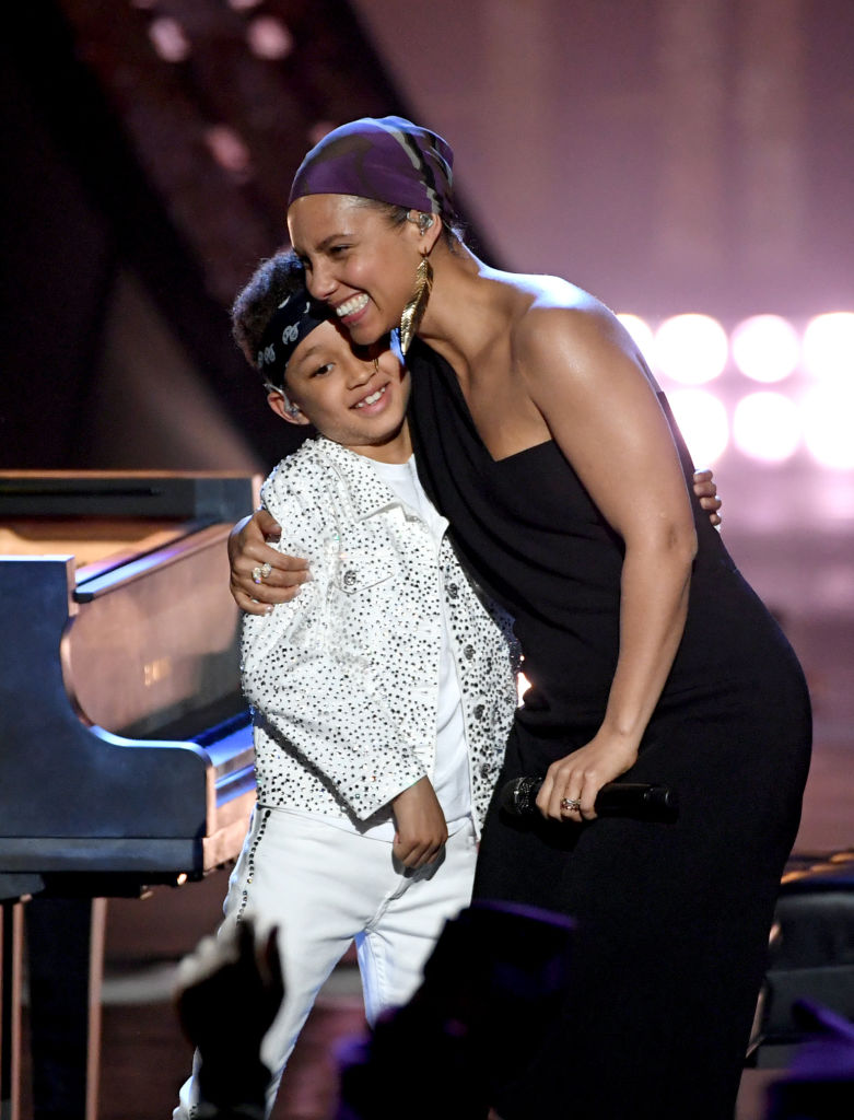 Alicia Keys' Son Egypt stole the show during their iHeartRadio Music Awards Performance