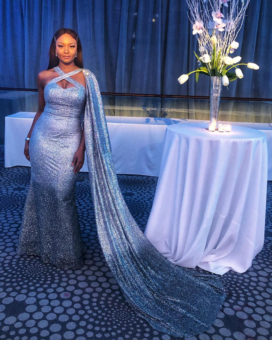 Osas Ighodaro Ajibade attended the 2019 Wash Gala decked in Glitter ✨😍