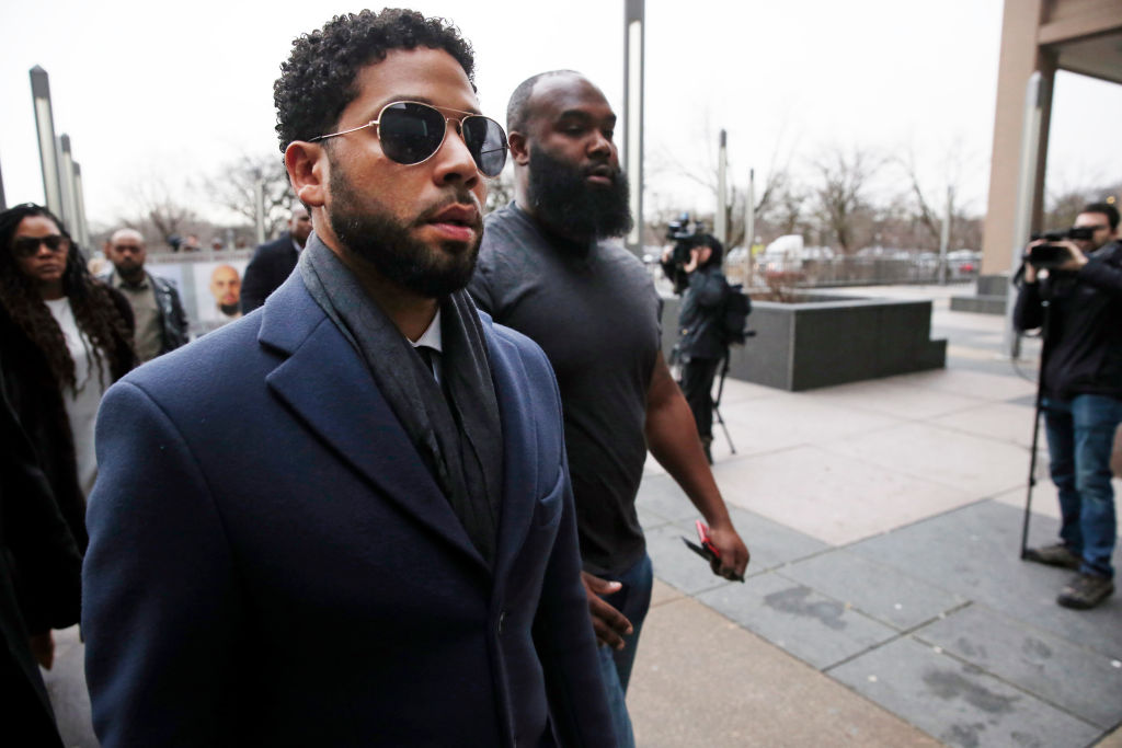 Jussie Smollett makes rare public comment amid new charges