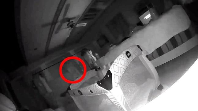 Michigan couple claim they captured ghost on Camera scratching Daughter - BellaNaija