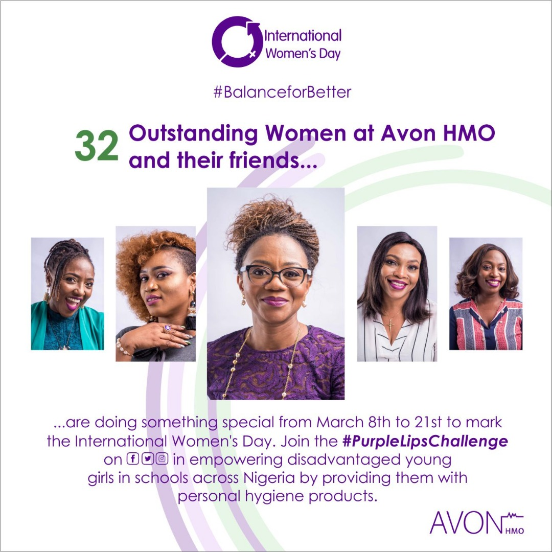 Let's Go Purple 💜 to Empower Young Girls with Avon HMO #PurpleLipsChallenge
