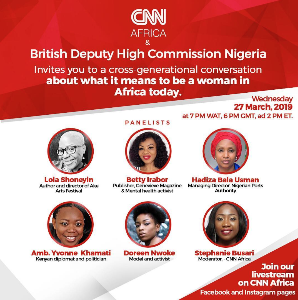 Join Betty Irabor, Lola Shoneyin, Hadiza Bala Usman, Yvonne Khamati & Doreen Nwoke for a Night of Cross-Generational Conversation  | March 27th