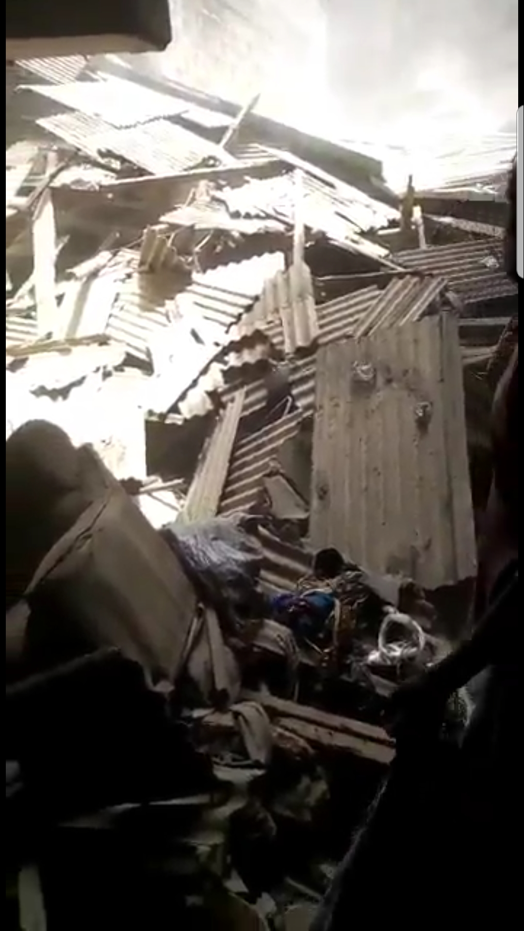 Lagos Island Building collapses During Demolition of Another