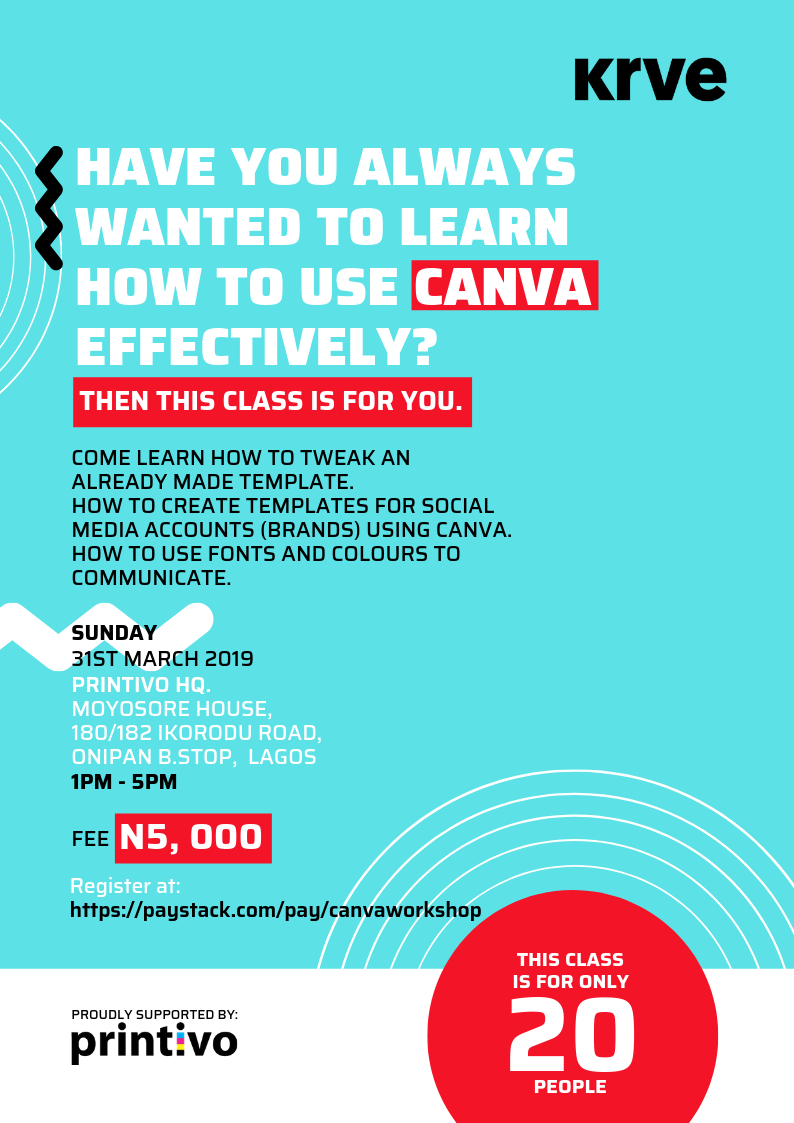 BellaNaijarians are you Interested In Learning how to use Canva? We Have An Event For You! | March 31st