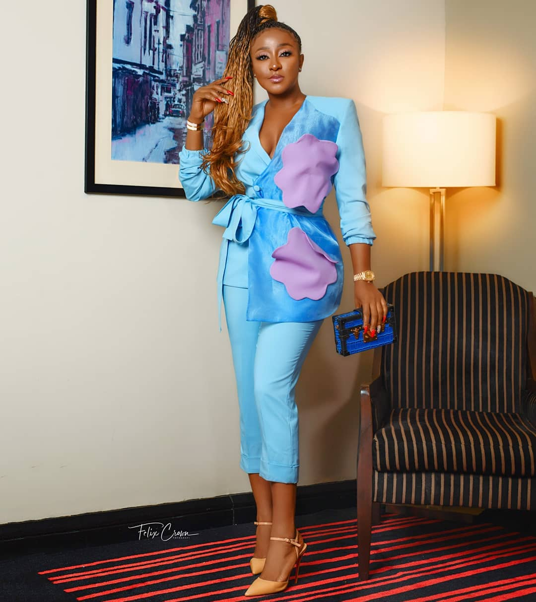 Ini Edo Rocked A Power Suit To A Wedding And Everybody's