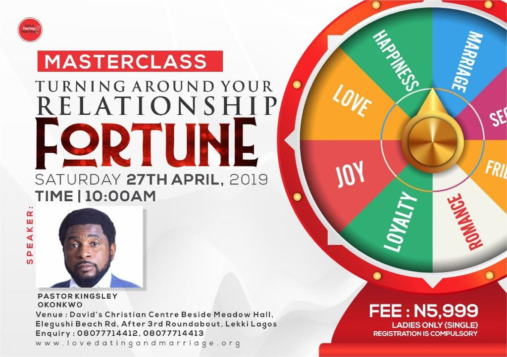 """Turning around your Relationship Fortune"" with Pastor Kingsley Okonkwo"