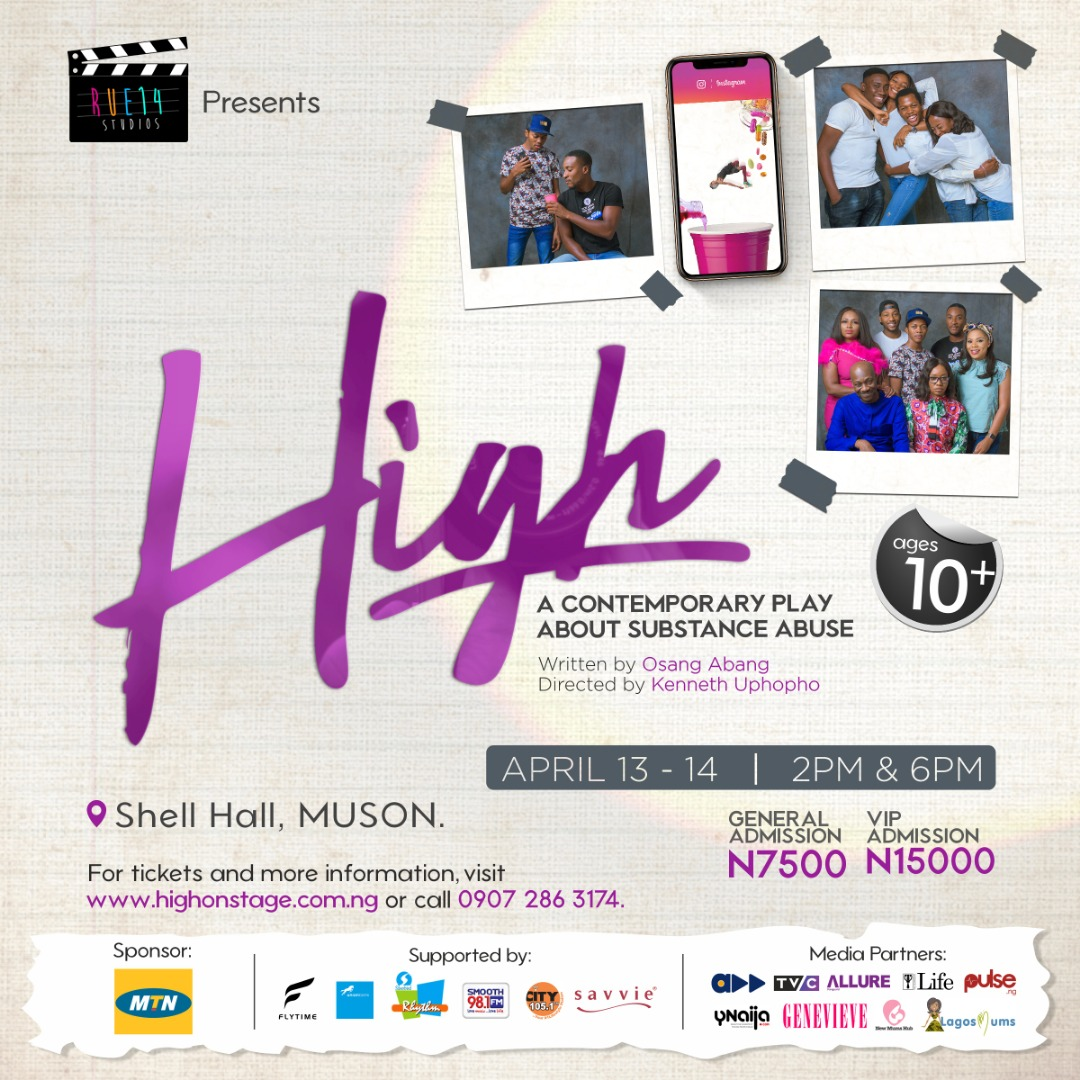 Rue14Studio is Fighting Against Drug Abuse Among Teens with this Stage Play 'HIGH' | April 13th -14th