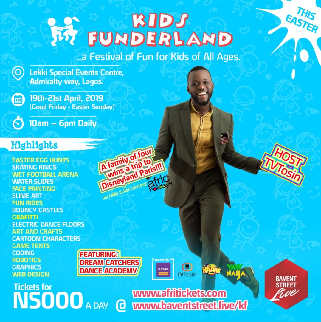 Kids Funderland set to Wow Kids in Lagos this Easter weekend