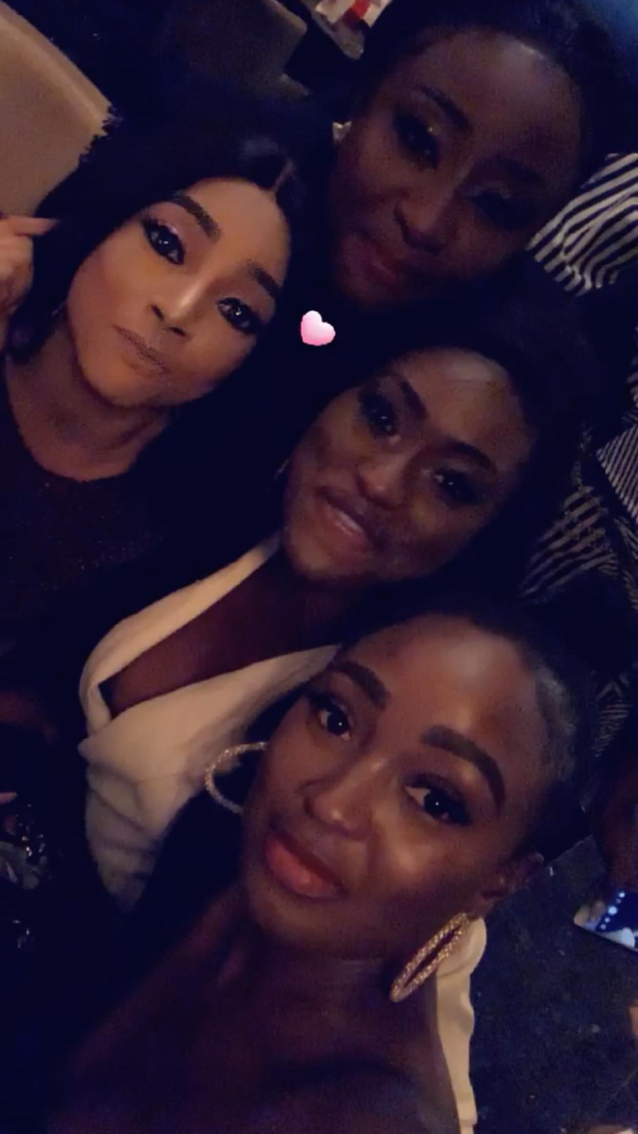 Ini Edo's Birthday Party was a Fun Girls Night Out with Toke Makinwa, Chika Ike, Mercy Aigbe, Shaffy Bello