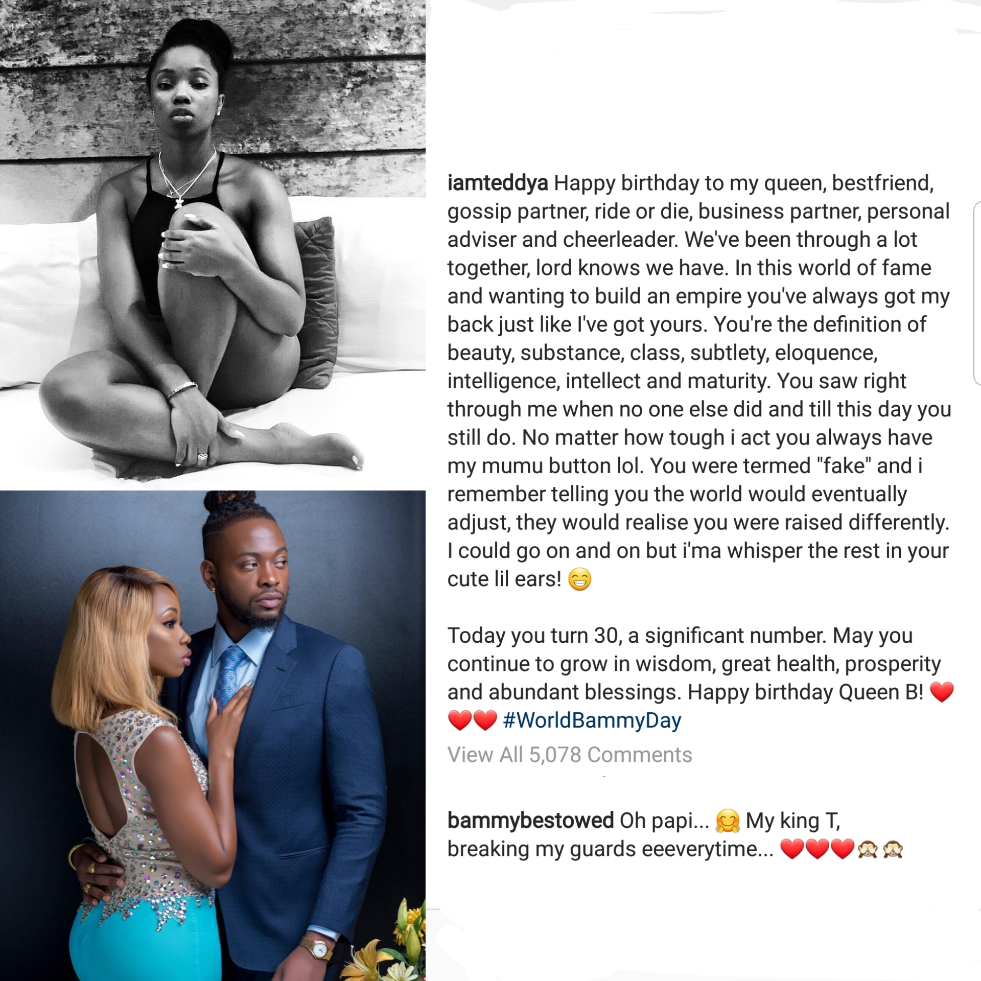 Teddy A Penned A Sweet Birthday Message to BamBam