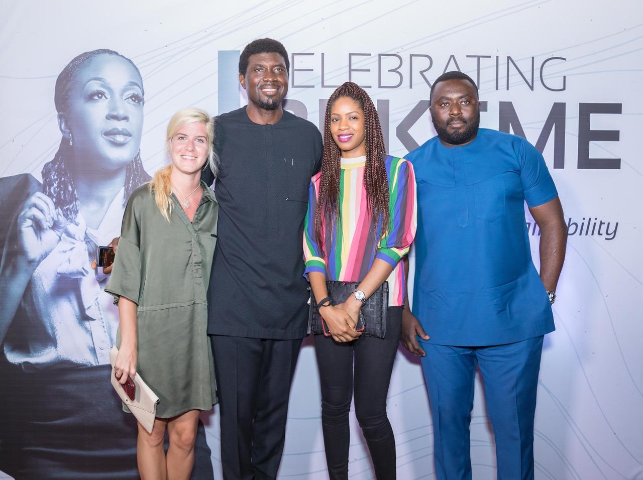 (L-R) Nues Fuster; Meka Olowola; Hadiza Adukonu and Senyo Adukonu