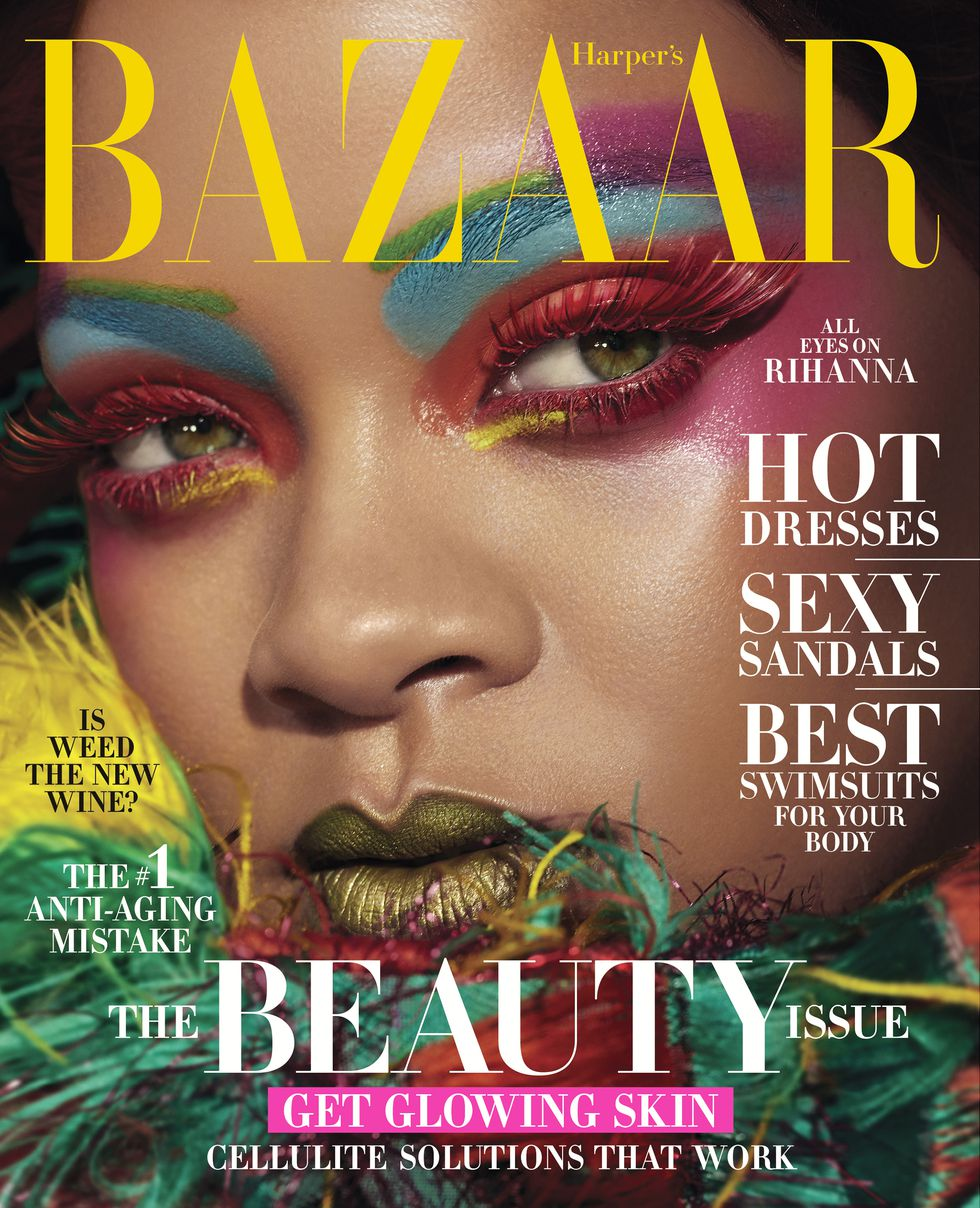 The Art of Being Rihanna! Superstar Singer & Entrepreneur covers Harper's Bazaar's The Beauty Issue