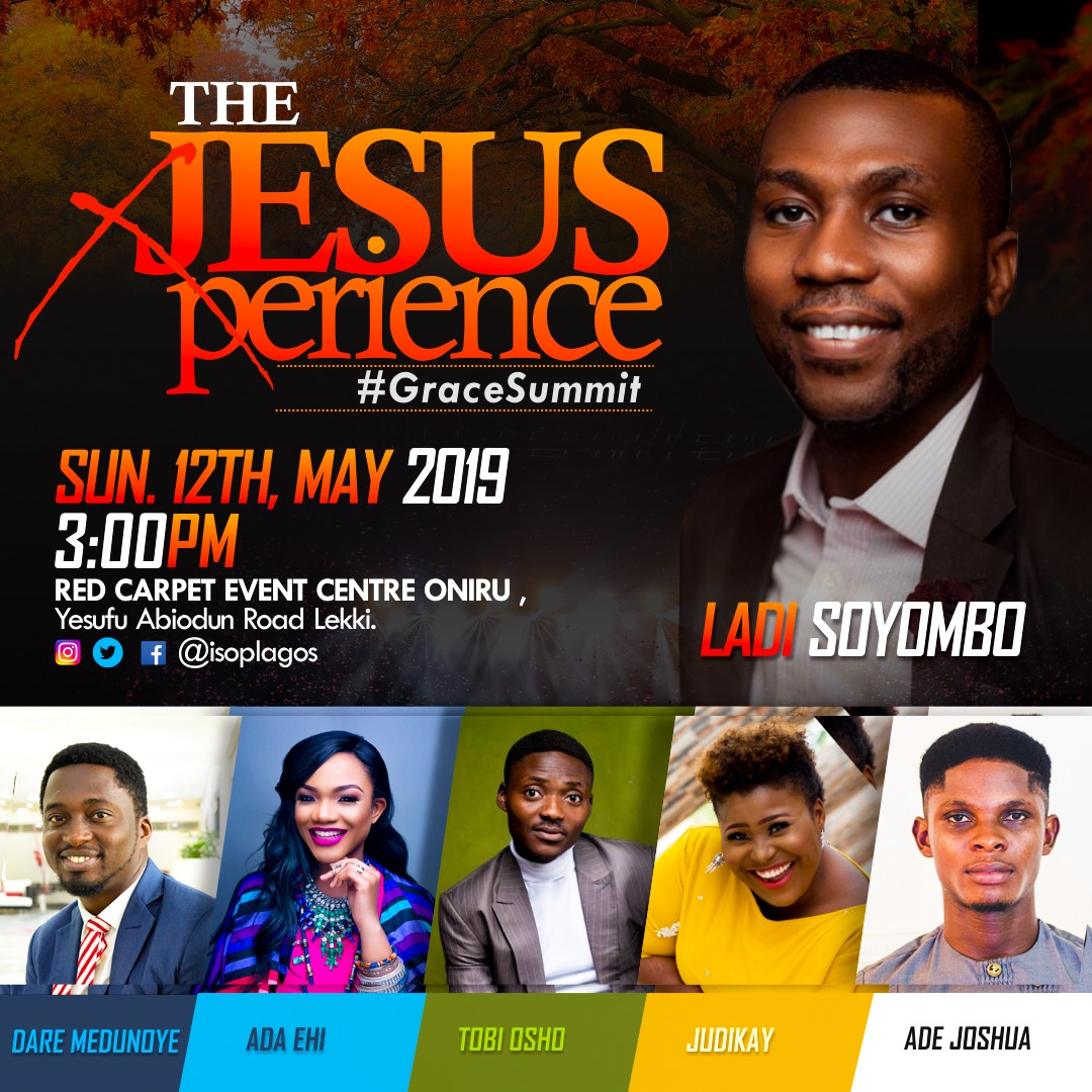 "Come have an Amazing Time of Fellowship at the First #GraceSummit tagged ""The Jesus Experience"" 