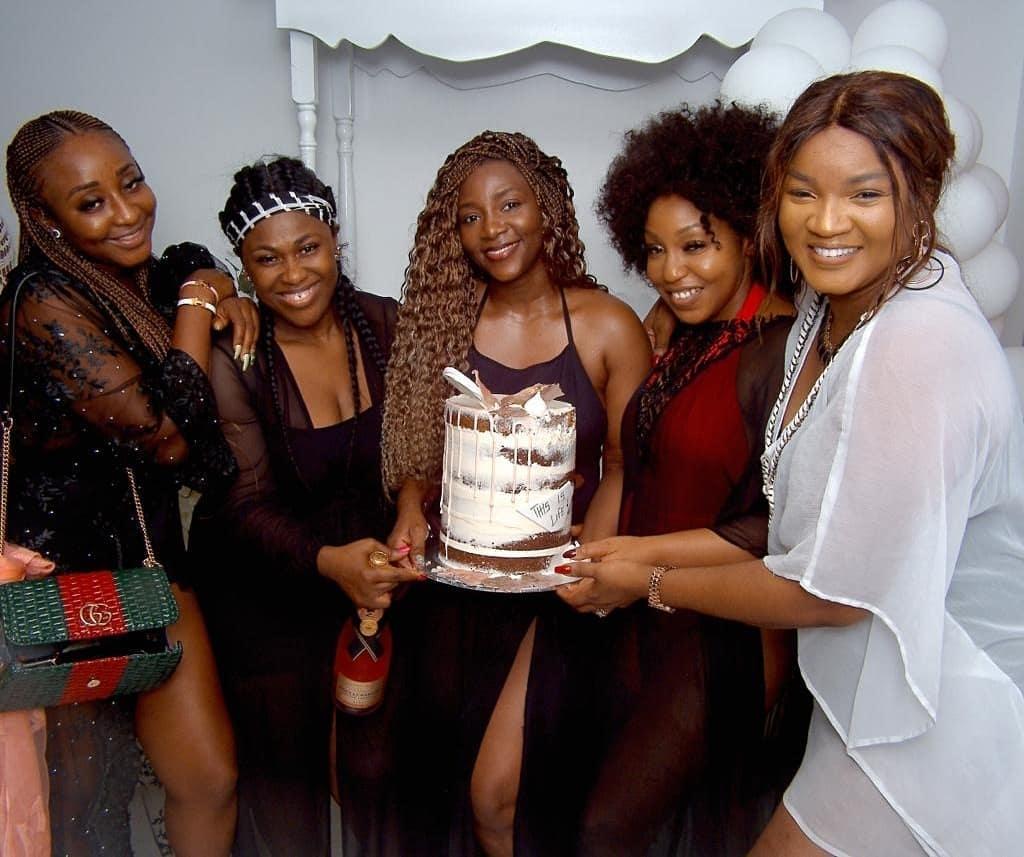 Stephanie Linus, Ini Edo, Uche Jombo, Genevieve Nnaji, Rita Dominic, Omotola Jalade-Ekeinde Meet Up for aNollywood Classic Reunion!