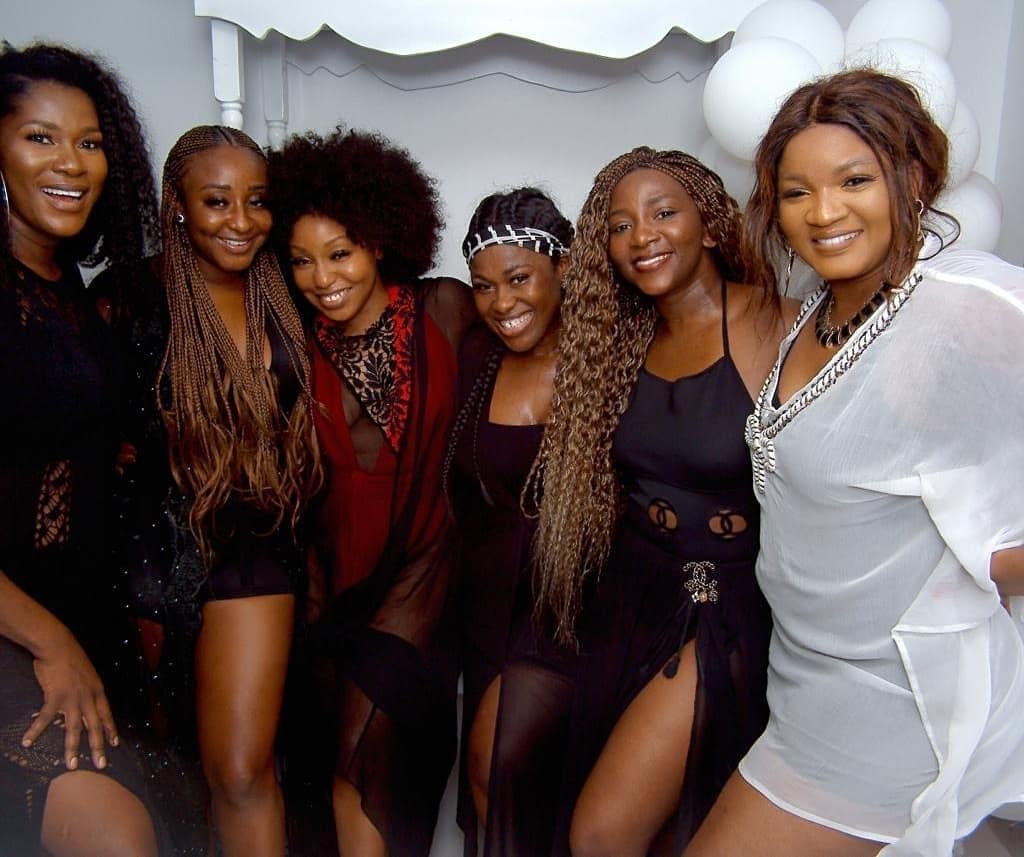 Image result for Genevieve Nnaji, Omotola Jalade, Uche Jombo, Stephanie Linus, Rita Dominic and Ini Edo